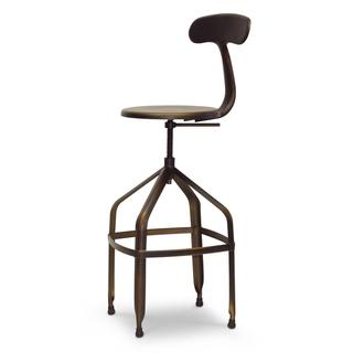 Baxton Studio Architect's Industrial Bar Stool in Antiqued Copper, Overstock.com
