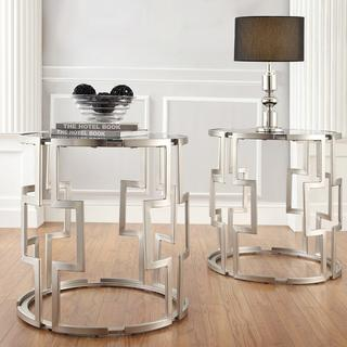 INSPIRE Q Mandell Crucifix Support Metal Accent Table, Overstock.com