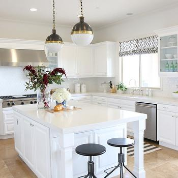 Caesarstone Frosty Carrina, Transitional, kitchen, Benjamin Moore White Heron, Shea McGee Design