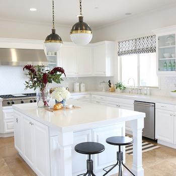 Caesarstone Frosty Carrina, Transitional, kitchen, Benjamin Moore White Heron, Shea McGee Design