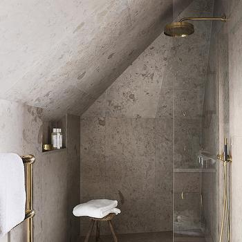 Attic Shower Ideas, Transitional, bathroom, Ett Hem