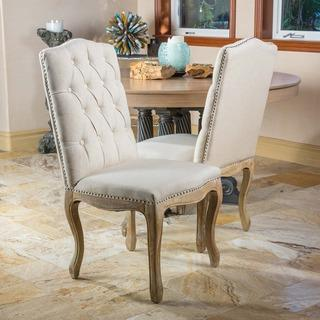 Christopher Knight Home Studded Beige Dining Chair (Set of 2), Overstock.com