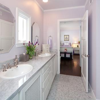 Shared Girls Bathroom, Transitional, girl's room, Lauren Shadid Architecture
