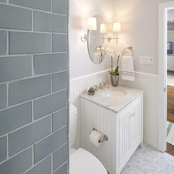 Beadboard Vanity, Transitional, bathroom, Lauren Shadid Architecture