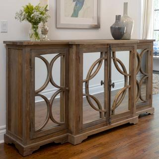 Amri Elmwood and Glass Sideboard, Overstock.com