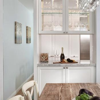 See Through Cabinets, Contemporary, dining room, Benjamin Moore Lookout Point, Lauren Shadid Architecture