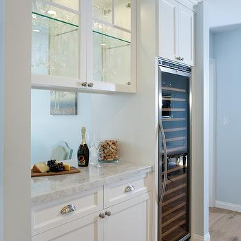 See Through Kitchen Cabinets, Contemporary, kitchen, Benjamin Moore Lookout Point, Lauren Shadid Architecture