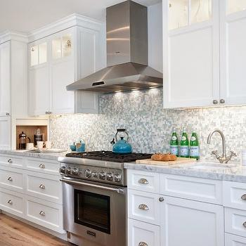 Blue Mosaic Tile Backsplash, Contemporary, kitchen, Lauren Shadid Architecture