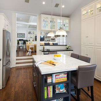 Sunken Kitchen, Transitional, kitchen, Lauren Shadid Architecture