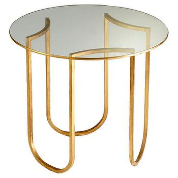 Cyan Design Vincente Side Table in Gold Leaf I AllModern