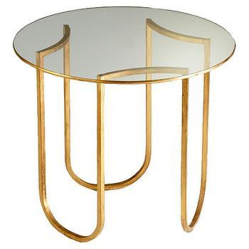 Cyan Design Vincente Side Table in Gold Leaf I AllModern