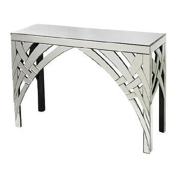 Sterling Industries Curved Ribbon Mirrored Console I AllModern