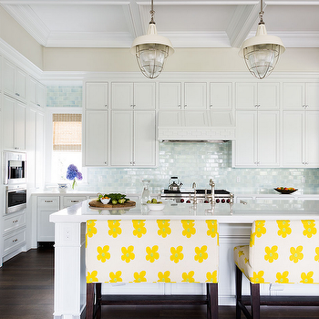 Blue Subway Tiles, Cottage, Kitchen, Andrew Howard Interior Design
