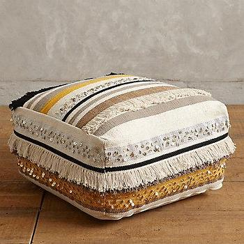 Fringed Glimmer Pouf I Anthropologie