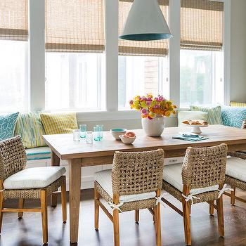 Window Seat Banquette, Cottage, Dining Room, Andrew Howard Interior Design