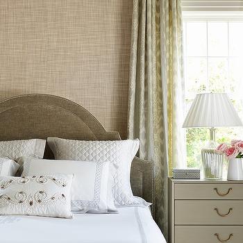 Grey Nightstand, Transitional, Bedroom, Andrew Howard Interior Design