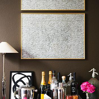 Framed Wrapping Paper, Transitional, Dining Room, Behr Aging Barrel, Paloma Contreras