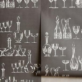 Clinking Glass Wallpaper I Anthropologie