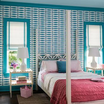 Turquoise Moldings, Transitional, Bedroom, Andrew Howard Interior Design