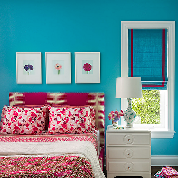 Red and Blue Kids Room, Transitional, Girl's Room, Andrew Howard Interior Design