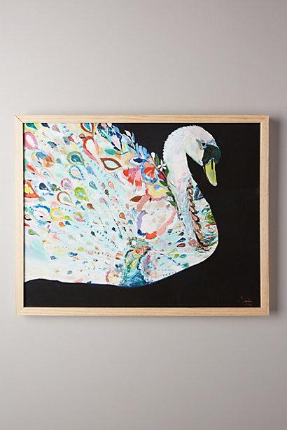 Mooreland wall art swan i anthropologie for Anthropologie mural