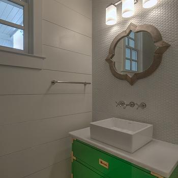 Campaign Vanity, Contemporary, Bathroom, CR  Home Design