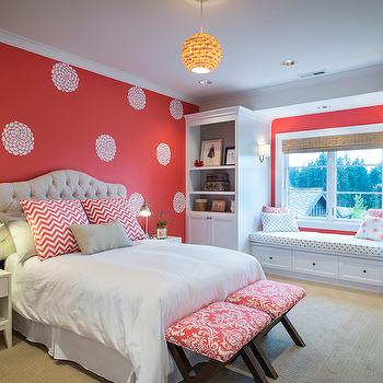 Accent Wall in Kids Room, Contemporary, Girl's Room, Benjamin Moore Coral Gables, TTM Development