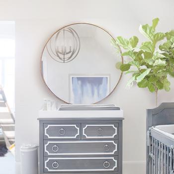 Gray Nursery Dresser, Transitional, Nursery, Ivory Lane
