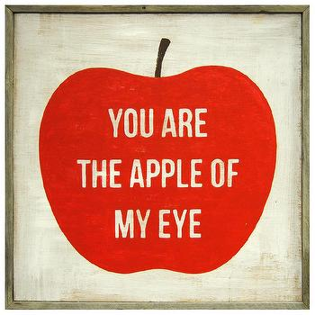 Sugarboo Designs Art Print You Are The Apple Of My Eye I Layla Grayce