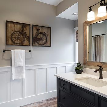Navy Washstand, Country, Bathroom, Benjamin Moore Old Navy, TTM Development