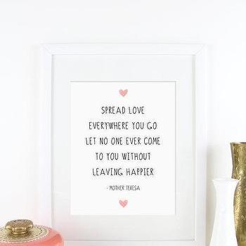 Inspirational Quote Mother Teresa Love Digital Instant Download  I Etsy