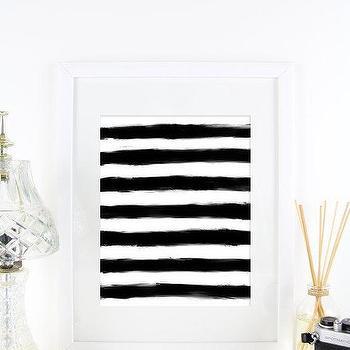 Black and White Paint Stripes Hand Drawn Modern Printable I Etsy