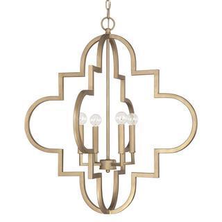 Ellis 4-light Pendant in Brushed Gold finish, Overstock.com