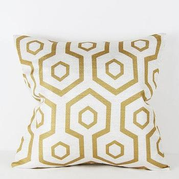 16x16 Pillow Cover Gold Geometric Design I Etsy