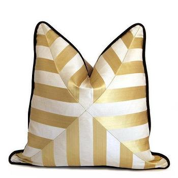 Gold and White Patchwork Cross Pillow I Etsy