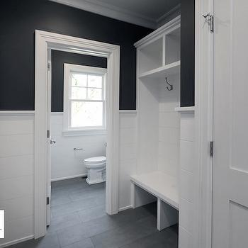 Black and White Mudroom Design, Transitional, Bathroom, Sir Development