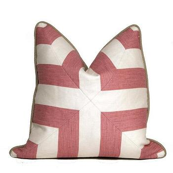 Pink Patchwork Cross Pillow I Etsy