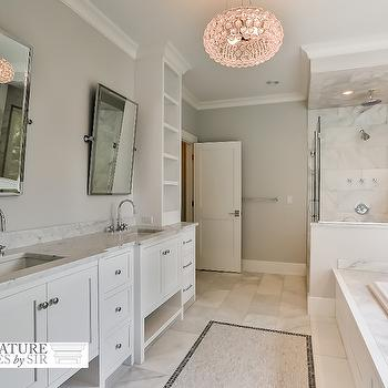 White and Gray Master Bathrooms, Transitional, Bathroom, Sir Development