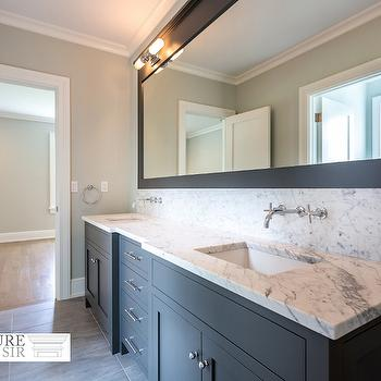 Charcoal Gray Dual Vanity, Transitional, Bathroom, Sir Development