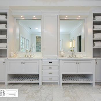 Built In Bathroom Cubbies, Traditional, Bathroom, Sir Development