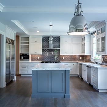 Kitchen with Gray Subway Tiles, Transitional, Kitchen, Sir Development