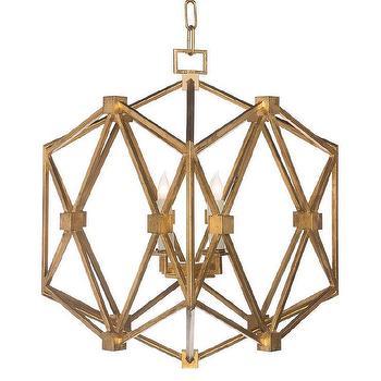 AG Hom Chan Geo Collection Abbey Gold Chandelier I Zinc Door