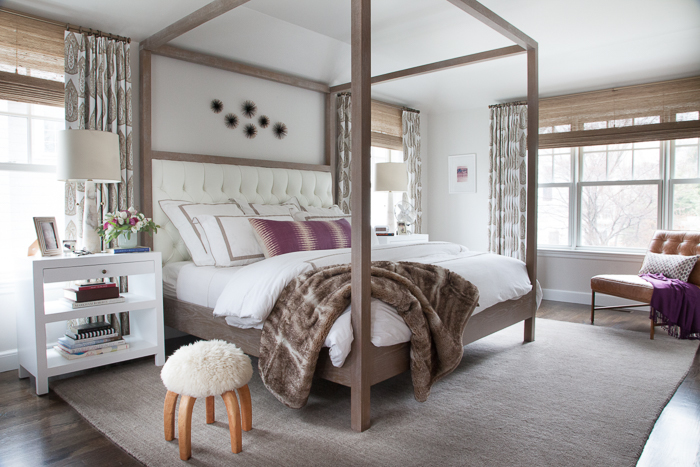 canopy bed with headboard transitional bedroom