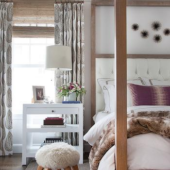 White Lacquer Table, Transitional, Bedroom, Sherwin Williams Incredible White, Erin Gates Design