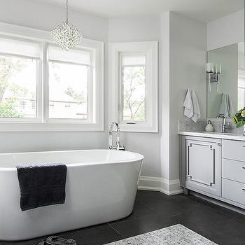 Gray and White Bathroom Ideas, Transitional, Bathroom, Jodie Rosen Design