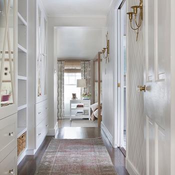 Hallway Built Ins, Transitional, Entrance/foyer, Erin Gates Design