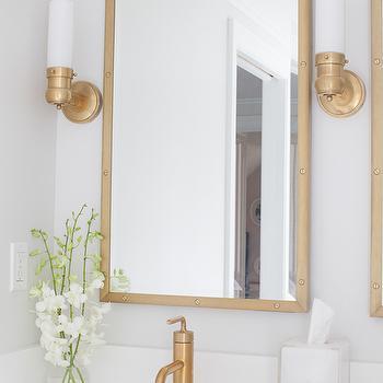 White Zeus Extreme Quartz Countertops, Transitional, Bathroom, Sherwin Williams Elder White, Erin Gates Design