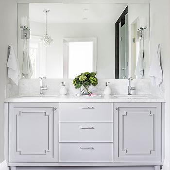 Bathroom Vanity Moldings, Transitional, Bathroom, Jodie Rosen Design