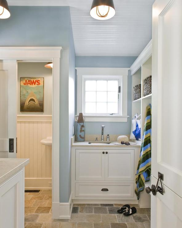 Mudroom Bathroom Cottage Laundry Room Design New England
