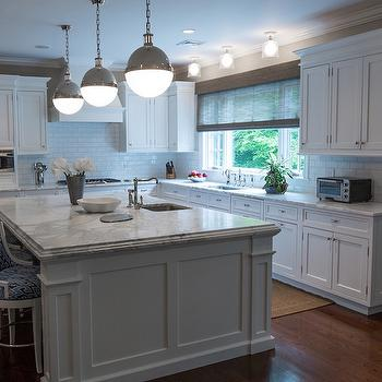 Large Kitchen Island Design, Transitional, Kitchen, Hirshson Design Group